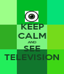 KEEP CALM AND SEE TELEVISION - Personalised Poster A1 size