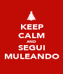 KEEP CALM AND SEGUI MULEANDO - Personalised Poster A1 size