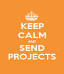 KEEP CALM AND SEND PROJECTS - Personalised Poster A1 size
