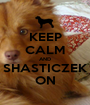 KEEP CALM AND SHASTICZEK ON - Personalised Poster A1 size