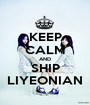 KEEP CALM AND SHIP LIYEONIAN - Personalised Poster A1 size