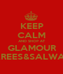 KEEP CALM AND SHOP AT  GLAMOUR  SAREES&SALWARS - Personalised Poster A1 size