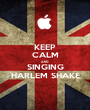 KEEP CALM AND SINGING HARLEM SHAKE - Personalised Poster A1 size