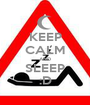 KEEP CALM AND SLEEP :D - Personalised Poster A1 size