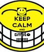 KEEP CALM AND smile !!!!!!!! - Personalised Poster A1 size
