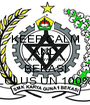 KEEP CALM AND SMK KARYA GUNA 1 BEKASI LULUS UN 100% - Personalised Poster A1 size