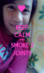 KEEP CALM AND SMOKE 2 JOINTS - Personalised Poster A1 size
