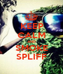 KEEP CALM AND SMOKE SPLIFF - Personalised Poster A1 size