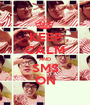 KEEP CALM AND SMS ON - Personalised Poster A1 size