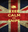 KEEP CALM AND SNIPE  - Personalised Poster A1 size