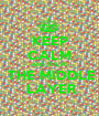 KEEP CALM AND SOLVE  THE MIDDLE  LAYER - Personalised Poster A1 size