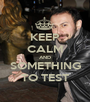 KEEP CALM AND SOMETHING TO TEST - Personalised Poster A1 size