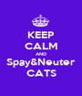 KEEP CALM AND Spay&Neuter CATS - Personalised Poster A1 size