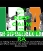 KEEP CALM AND SPPORT THE RA - Personalised Poster A1 size