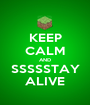 KEEP CALM AND SSSSSTAY ALIVE - Personalised Poster A1 size