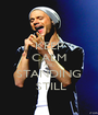 KEEP CALM AND STANDING  STILL - Personalised Poster A1 size