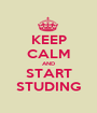 KEEP CALM AND START STUDING - Personalised Poster A1 size