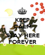 KEEP CALM AND STAY HERE FOREVER - Personalised Poster A1 size