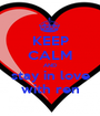 KEEP CALM AND stay in love with ren - Personalised Poster A1 size