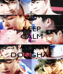 KEEP CALM AND STAY LOVE DONGHAE - Personalised Poster A1 size