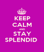 KEEP CALM AND STAY SPLENDID  - Personalised Poster A1 size