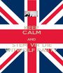 KEEP CALM AND STEM VIR DIE WITWOLF PARTY - Personalised Poster A1 size