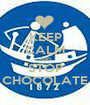 KEEP CALM AND STOP CHOCOLATE - Personalised Poster A1 size