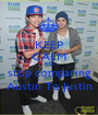 KEEP CALM AND stop comparing Austin To Justin - Personalised Poster A1 size