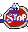 KEEP CALM AND stop on the door  - Personalised Poster A1 size