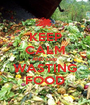 KEEP CALM AND stop WASTING FOOD - Personalised Poster A1 size