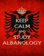 KEEP CALM AND STUDY ALBANOLOGY - Personalised Poster A1 size