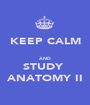 KEEP CALM  AND STUDY  ANATOMY II - Personalised Poster A1 size