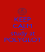 KEEP CALM AND study at POLYGLOT - Personalised Poster A1 size