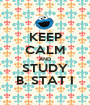 KEEP CALM AND STUDY B. STAT I - Personalised Poster A1 size