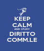 KEEP CALM AND STUDY DIRITTO COMM.LE - Personalised Poster A1 size