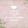 KEEP CALM AND STUDY FOR UKDI - Personalised Poster A1 size
