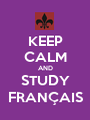 KEEP CALM AND STUDY FRANÇAIS - Personalised Poster A1 size