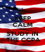 KEEP CALM AND STUDY IN  THE CCPA - Personalised Poster A1 size