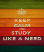 KEEP CALM AND STUDY  LIKE A NERD - Personalised Poster A1 size