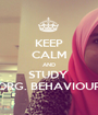 KEEP CALM AND STUDY  ORG. BEHAVIOUR - Personalised Poster A1 size