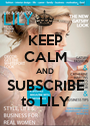 KEEP CALM AND SUBSCRIBE to LILY - Personalised Poster A1 size