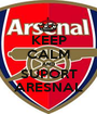 KEEP CALM AND SUPORT ARESNAL - Personalised Poster A1 size