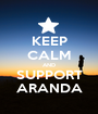 KEEP CALM AND SUPPORT ARANDA - Personalised Poster A1 size