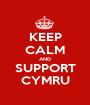 KEEP CALM AND SUPPORT CYMRU - Personalised Poster A1 size