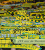KEEP CALM AND SUPPORT FCN - Personalised Poster A1 size