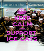 KEEP CALM AND SUPPORT  ICE CATS - Personalised Poster A1 size