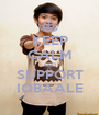 KEEP CALM AND SUPPORT IQBAALE - Personalised Poster A1 size