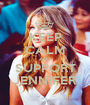KEEP CALM AND SUPPORT JENNIFER - Personalised Poster A1 size