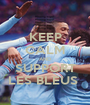 KEEP CALM AND SUPPORT LES BLEUS  - Personalised Poster A1 size