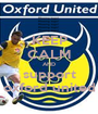 KEEP CALM AND support oxford united - Personalised Poster A1 size